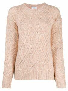 Allude Treccia knit jumper - Pink