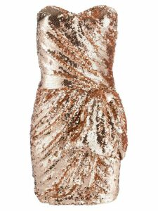 Elisabetta Franchi sequin-embellished mini dress - Pink