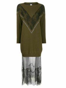 Fabiana Filippi lace embellished jumper dress - Green