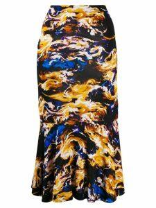 Kenzo abstract print high-waisted skirt - Black