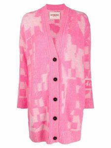 Iceberg intarsia-knit cardigan - Pink