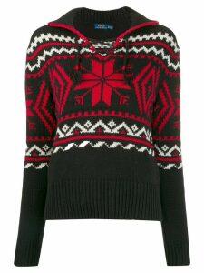 Polo Ralph Lauren winter motifs intarsia jumper - Red