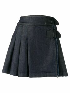 Benetton pleated denim skirt - Blue