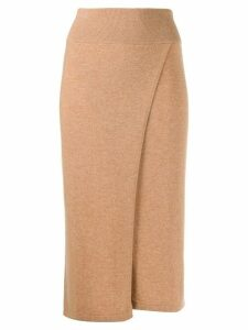 Cashmere In Love Lucia wrap knitted skirt - NEUTRALS