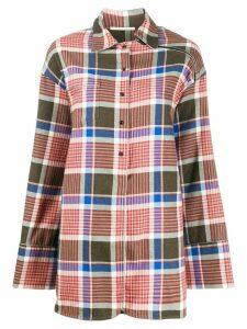 Marco De Vincenzo check-print oversized shirt - PINK