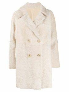 Drome reversible shearling coat - Neutrals