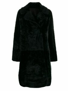 Drome boxy fit double buttoned coat - Black