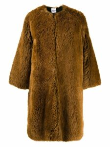 Roseanna Grizzly Alec faux fur coat - Brown