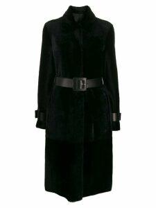 Drome concealed front coat - Black