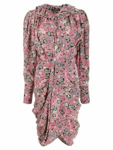 Isabel Marant floral print asymmetric dress - PINK