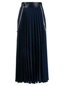 Christopher Kane crystal pleated skirt - Blue