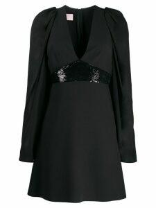 Giamba empire line mini dress - Black