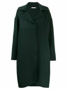 Odeeh oversized single-breasted coat - Green