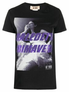 Gina photographic-print T-shirt - Black