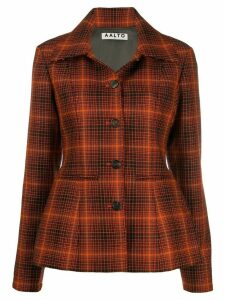 Aalto nipped waist tartan blazer - Orange