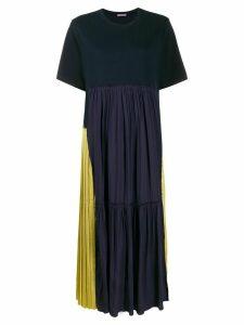 Sueundercover asymmetric patchwork dress - Blue