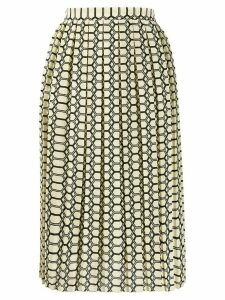 Plan C geometric midi skirt - Yellow