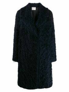 Forte Forte textured single breasted coat - Blue