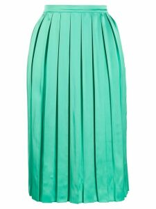 Plan C pleated midi skirt - Green