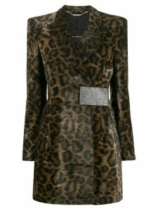 John Richmond Giacca lunga maculata coat - Green