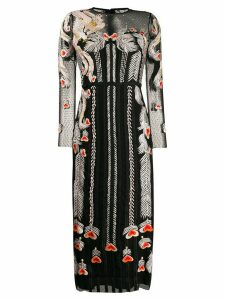 Temperley London embroidered tulle dress - Black