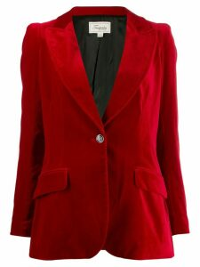 Temperley London velvet blazer - Red