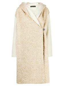 Phisique Du Role reversible faux-shearling coat - Neutrals
