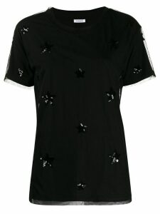P.A.R.O.S.H. tulle layer sequin-embellished T-shirt - Black