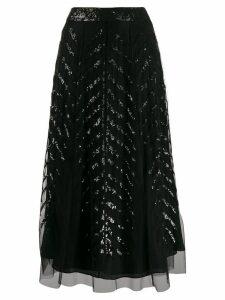 Temperley London sequinned tulle skirt - Black