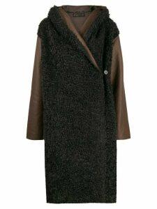 Phisique Du Role reversible faux-shearling coat - Brown