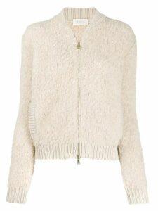 Zanone textured knitted cardigan - Neutrals