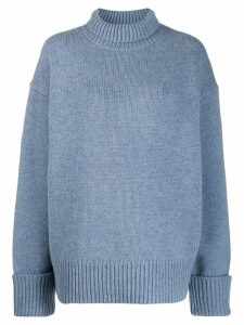 Victoria Victoria Beckham roll neck knitted jumper - Blue
