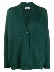 Brunello Cucinelli sequin-embellished cardigan - Green