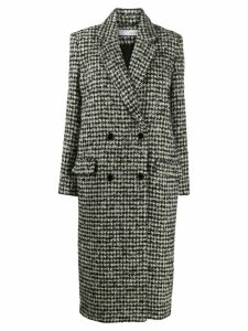 Iro Huaraz houndstooth coat - Black