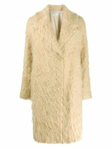 Forte Forte textured single breasted coat - Neutrals