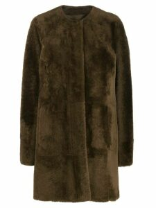 Drome mid-length fur coat - Brown
