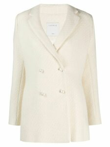 Sandro Paris tweed double-breasted jacket - Neutrals