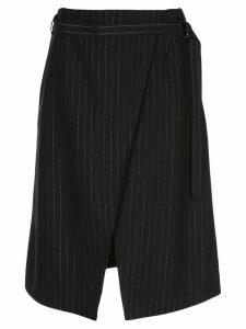 Kenzo pinstripe wrap skirt - Black