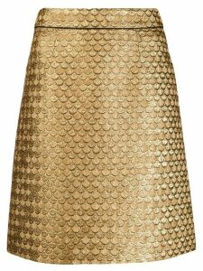 Paule Ka fish-scales print skirt - Gold