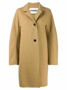 Jil Sander oversized single-breasted coat - Neutrals