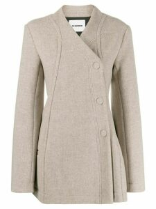 Jil Sander wrap short coat - Neutrals
