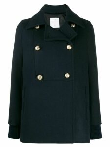 Sandro Paris Faneli reefer coat - Blue