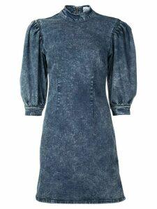 Ganni bleached denim dress - Blue