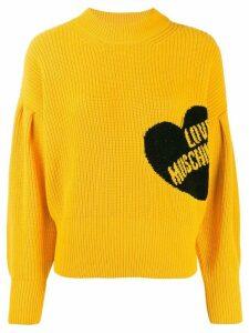 Love Moschino branded jumper - Yellow
