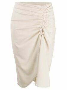 8pm ruched detail skirt - NEUTRALS
