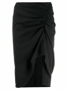 8pm ruched detail skirt - Black