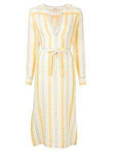 Lemlem Zeritu striped shirt dress - Yellow