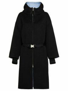 Prada belted midi coat - Black