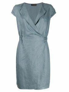 Emporio Armani short-sleeve shift dress - Blue