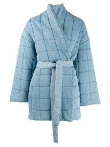 Áeron tie-waist coat - Blue